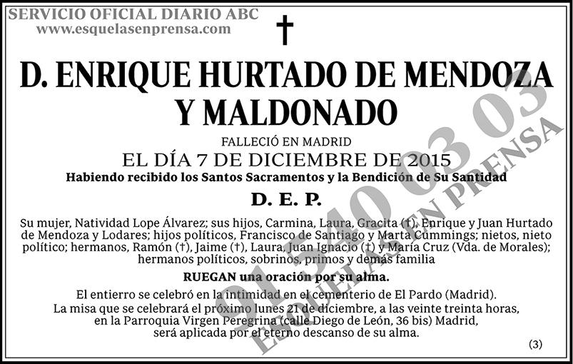 Enrique Hurtado de Mendoza y Maldonado